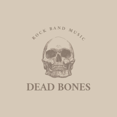 Logo Maker for Rock Bands Featuring Engraved Skulls and Bones Graphics 1633-el1