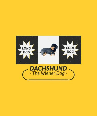 Dog-Themed T-Shirt Design Maker with a Dachshund Illustration 1521a-el1