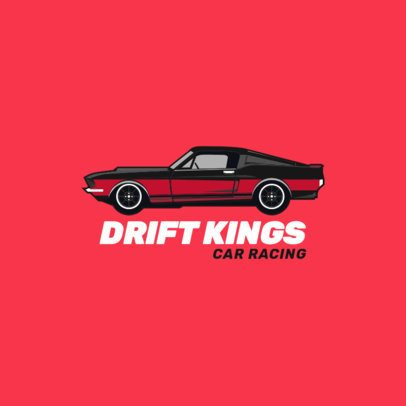 Logo Template of a Muscle Car for a Drifting Club 1646a-el1