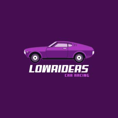 Online Logo Maker Featuring a Lowrider Car Graphic 1646e-el1