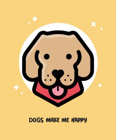T-Shirt Design Creator with a Happy Dog Graphic 1546a-el1