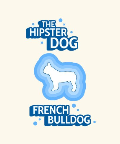 Retro T-Shirt Design Maker Featuring a Wiener Dog Graphic 1544c-el1