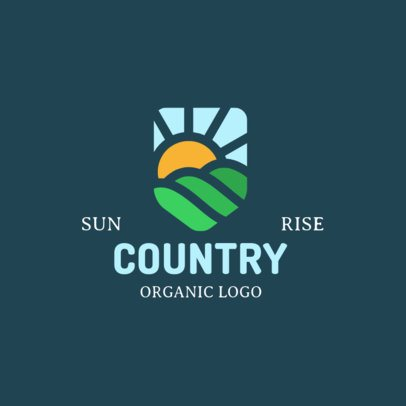 Organic Brand Logo Template Featuring a Sunset Graphic 1602b-el1