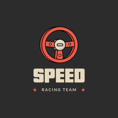 Simple Gaming Logo Maker Featuring Car Racing Icons 1649-el1