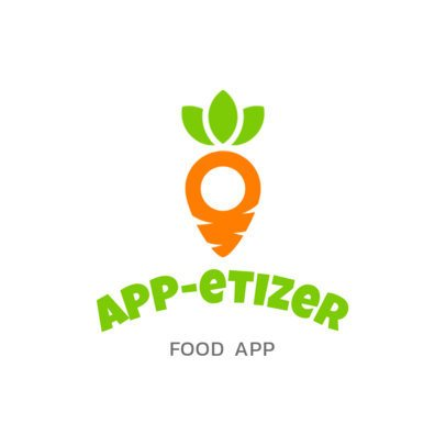 Logo Maker for a Healthy Food App Featuring a Carrot Graphic 3298f