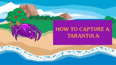 YouTube Thumbnail Creator Featuring a Big Tarantula Graphic 2555f
