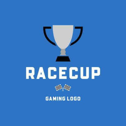 Logo Template Featuring a Champion Cup Graphic 1647c-el1