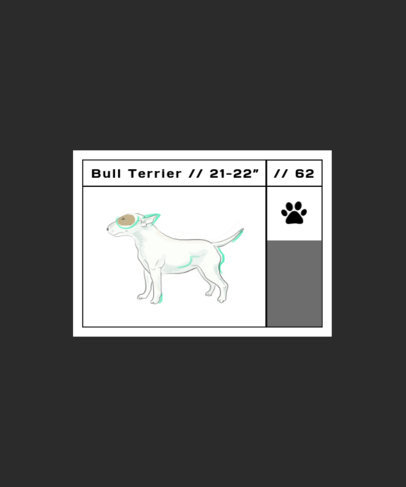 T-Shirt Design Creator with the Illustration of a Small Bull Terrier 1515b-el1