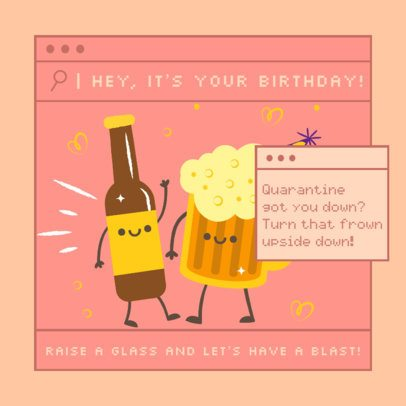 Kawaii Instagram Post Design Maker to Celebrate a Quarantine Birthday 2549b