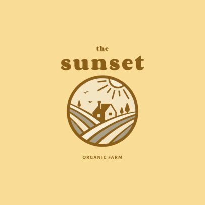Minimalist Logo Creator for an Ecological Farm 1698c-el1