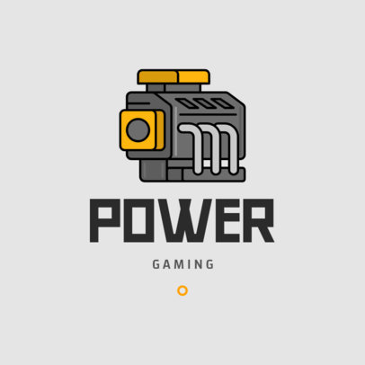 Logo Generator for Car Racing Games Featuring an Engine Clipart 1649a-el1