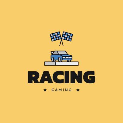 Racing-Themed Logo Generator Featuring a Car Icon 1649d-el1