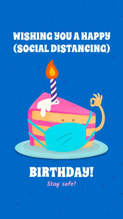 Instagram Story Generator with a Colorful Quarantine Birthday Cake Graphic 2548f