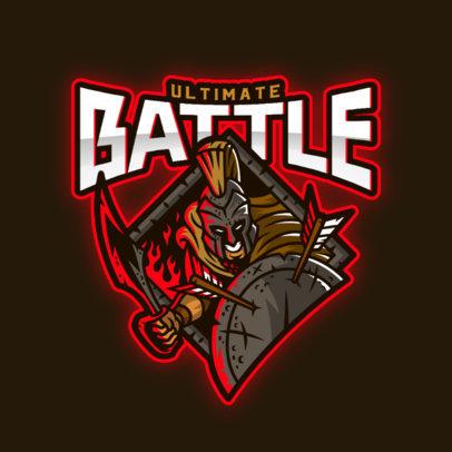 Logo Maker Featuring a Spartan Warrior Ready for Battle 3297e
