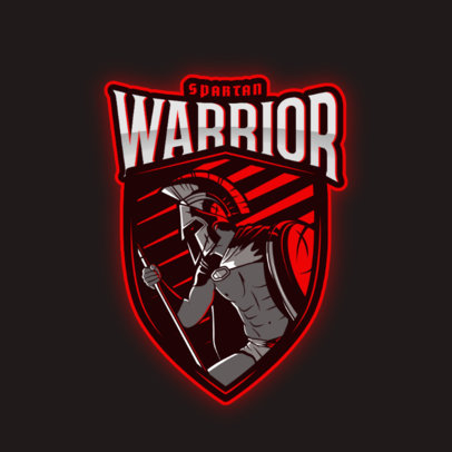 Battle Logo Creator with a Graphic of a Great Spartan Warrior 3297h