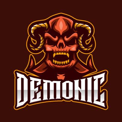 Logo Generator Featuring an Aggressive Demon 1762c-el1