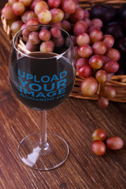 Mockup Featuring a Wine Glass Next to Some Grapes 36470-r-el2