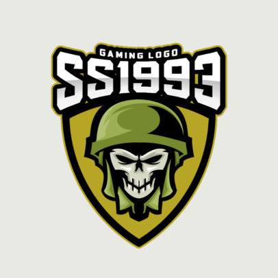 Gaming Logo Creator Featuring the Skull of a Soldier 1763a-el1