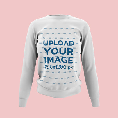 Ghosted Mockup of a Women's Crewneck Sweatshirt Against a Plain Backdrop 4431-el1