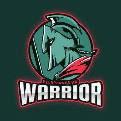 Gaming Logo Maker Featuring an Intimidating Gladiator Warrior 3297k