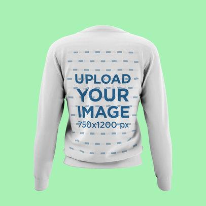 Back-View Mockup of a Ghosted Sweatshirt 4432-el1