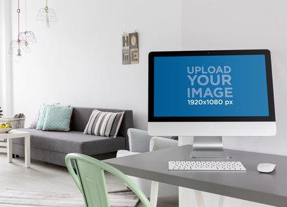 iMac Mockup Featuring a Minimalist Living Room 36565-r-el2