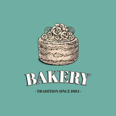 Bakery Logo Template Featuring Hand-Drawn Dessert Graphics 1747-el1