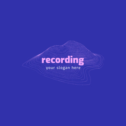 Logo Template for a Recording Studio with Sound Wave Graphics 1726a-el1