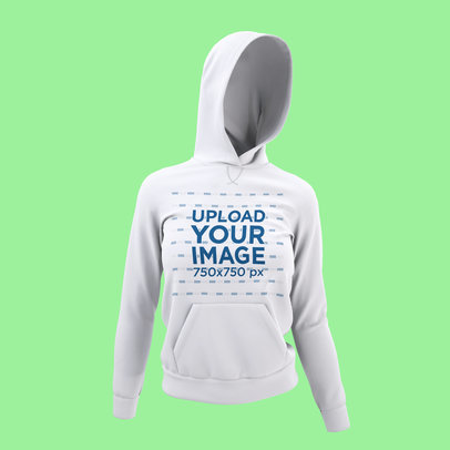 Mockup Featuring a Ghosted Hoodie Pullover Against a Colored Backdrop 4437-el1
