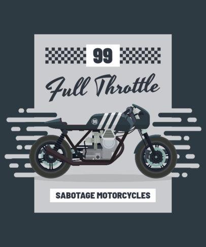 Vintage T-Shirt Design Template for Biker Fanatics 1716b-el1