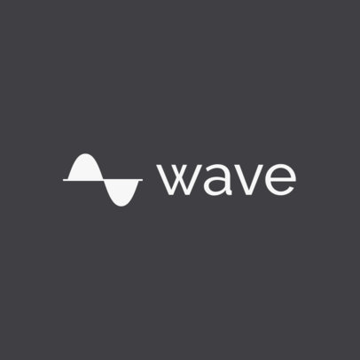 Music Software Logo Creator Featuring an Abstract Sound Wave Graphic 1725b-el1
