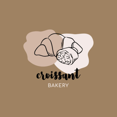 Boulangerie Logo Maker Featuring a Croissant 1746d-el1