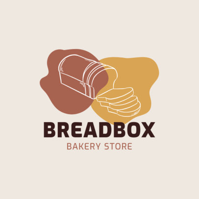 Minimalist Logo Template for a Bakery Store with an Outline Bread Graphic 1746e-el1