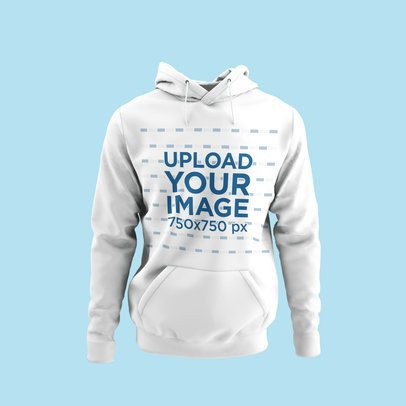 Mockup of a Ghosted Pullover Hoodie with a Colored Background 4439-el1