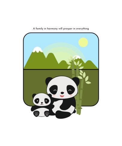 T-Shirt Design Generator with Two Sweet Panda Cartoons 1703c-el1