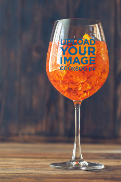 Mockup of a Wine Glass with an Orange-Infused Drink 36617-r-el2
