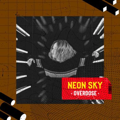Album Cover Generator Featuring a Distorted Grid Design 2585o