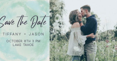 Modern Facebook Post Creator for a Romantic-Style Wedding Invitation 2584f