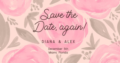 Wedding-Themed Facebook Post Creator with a Floral Background 2584h