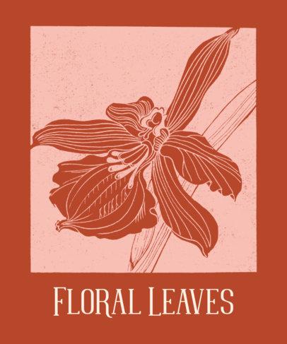 T-Shirt Design Generator Featuring Floral Leaves 1657b-el1