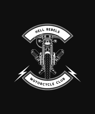 Rebellious T-Shirt Design Maker Featuring Motorcycle Graphics 1713-el1