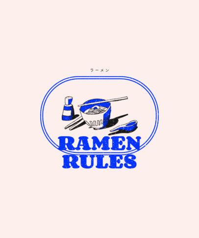 Cool T-Shirt Design Template for Ramen Enthusiasts 1697b-el1