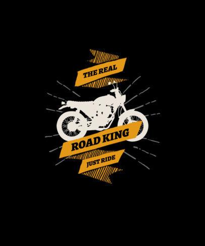Daring T-Shirt Design Maker with a Motorbike Graphic 1718c-el1