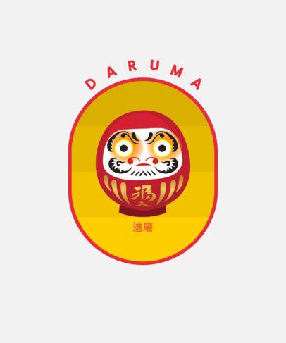 T-Shirt Design Creator Featuring a Daruma Doll Graphic 1668a-el1