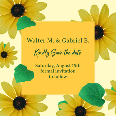 Floral-Themed Instagram Post Generator for a Wedding Invitation save the date instagram post 2583d