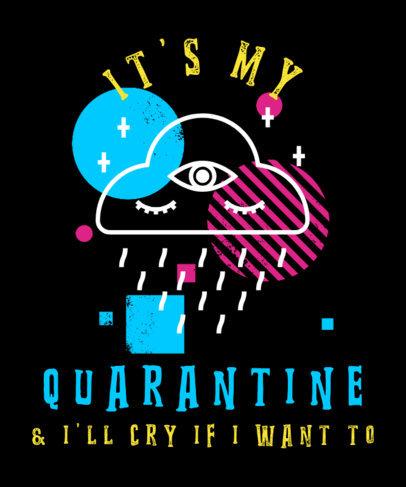 T-Shirt Design Creator Featuring a Rainy Cloud Drawing 2577d
