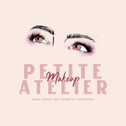 Logo Creator for a Makeup Brand Featuring Women's Eyes 3318a