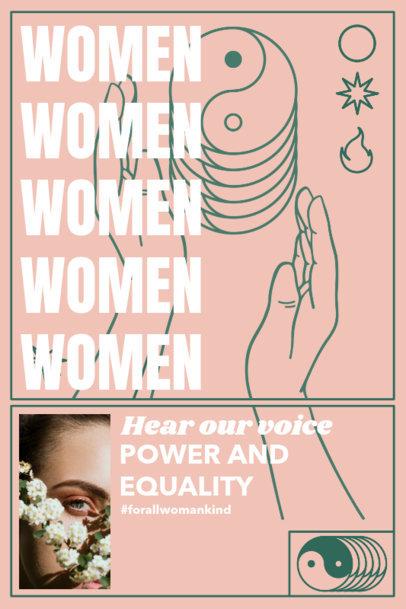 Illustrated Poster Maker for Female Empowerment 2757e
