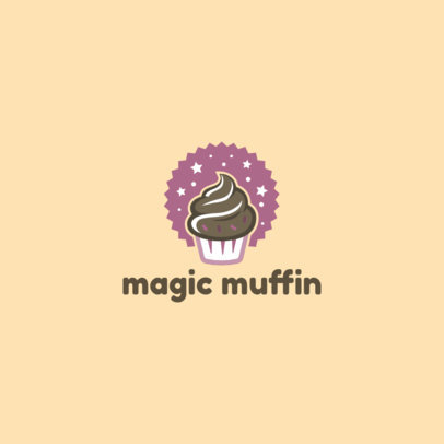 Logo Template for a Bakery Featuring a Magic Muffin Graphic 1860a-el1