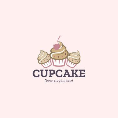 Bakery Logo Generator Featuring Three Delicious Cupcakes 1860b-el1